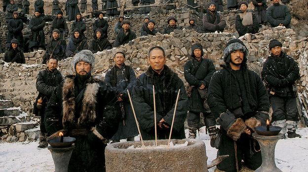 Andy Lau, Jet Li and Takeshi Kaneshiro