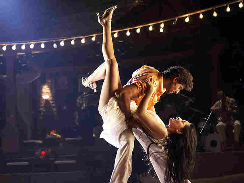 A dance-floor scene: Barbara Mori and Hrithik Roshan in 'Kites'