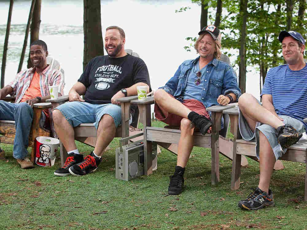 Grown Ups - starring Chris Rock, Kevin James, David Spade, Adam Sandler, and Rob Schneider.
