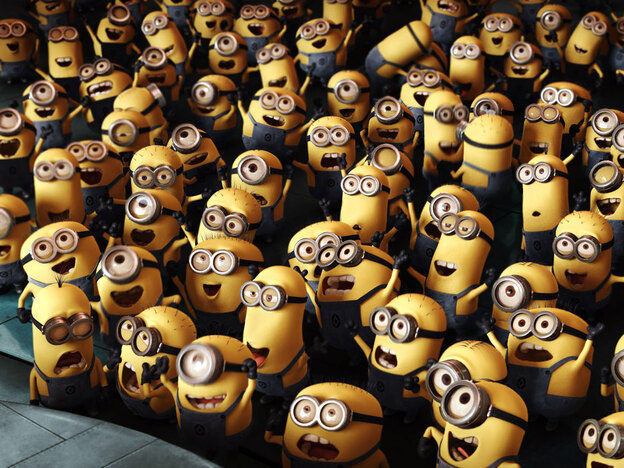 <strong>Pick Me, Pick Me!</strong> Much of the humor in <em>Despicable Me</em> is derived from these little corn puff-shaped creatures, and their ill-fated attempts at mischief.