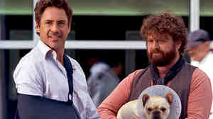 Robert Downey, Jr. and Zach Galifianakis
