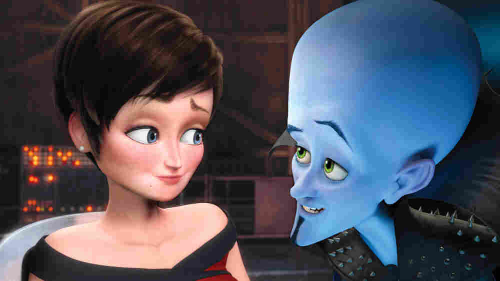 Roxanne and Megamind, voiced by Tina Fey and Will Ferrell