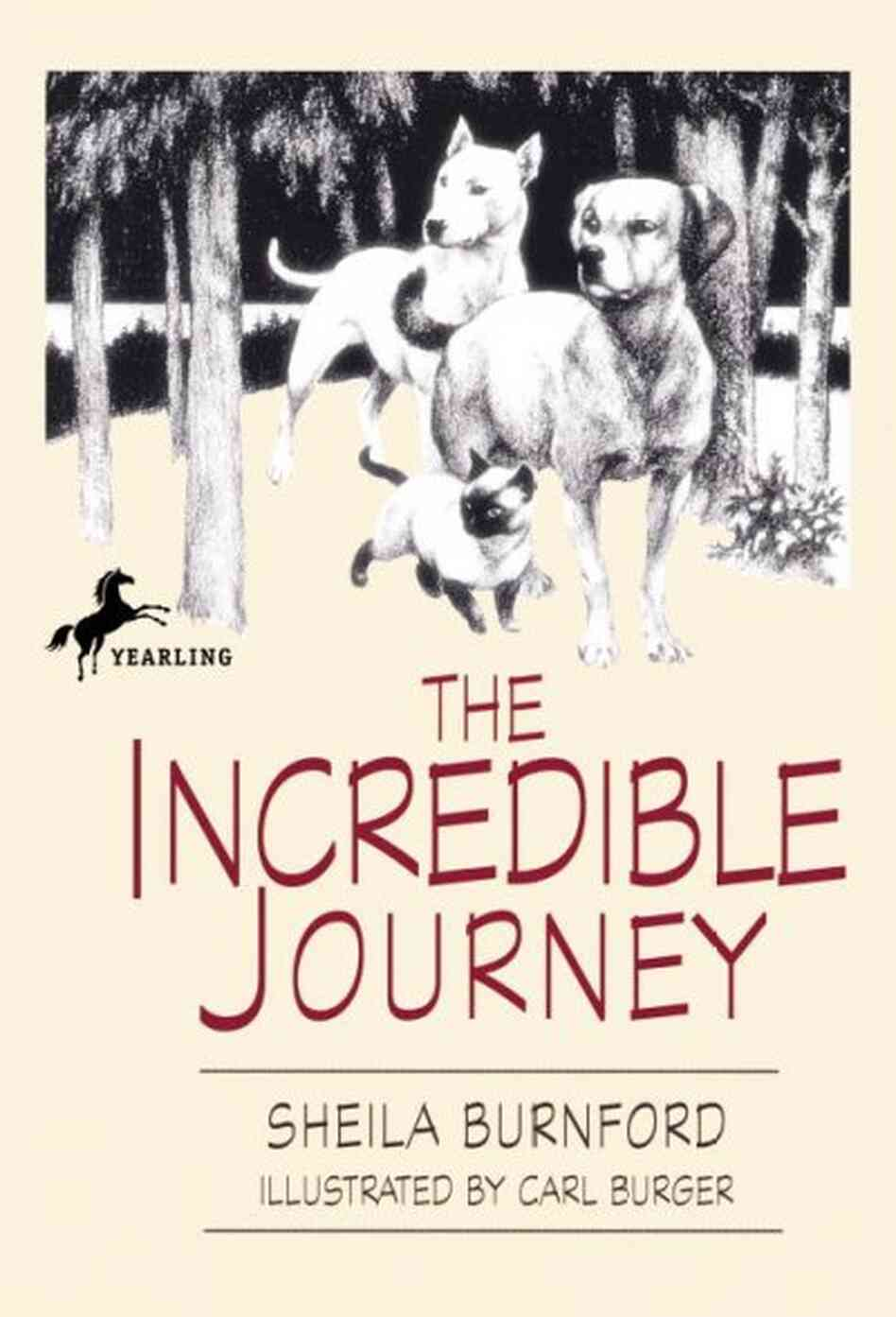 the incredible journey A bull terrier, a siamese and a labrador retriever trek 250 miles of wild canada to reach home.