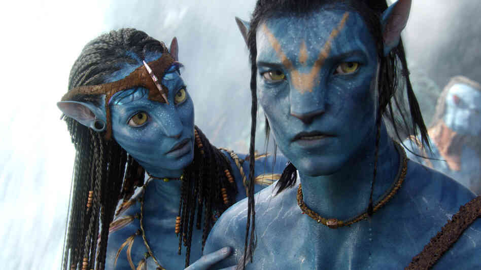 Blue aliens in Avatar.