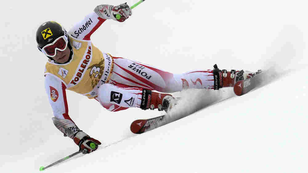 Austrian Marcel Hirscher in the men's giant slalom event at the FIS Alpine Skiing World Cup on Janua