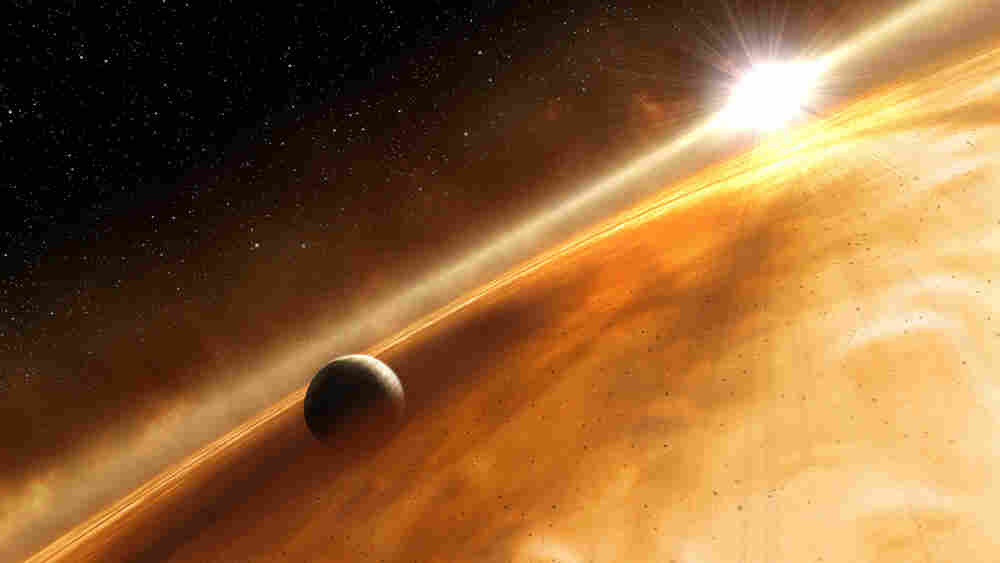 Illustration of the extra-solar planet, Fomalhaut B, discovered in 2008.