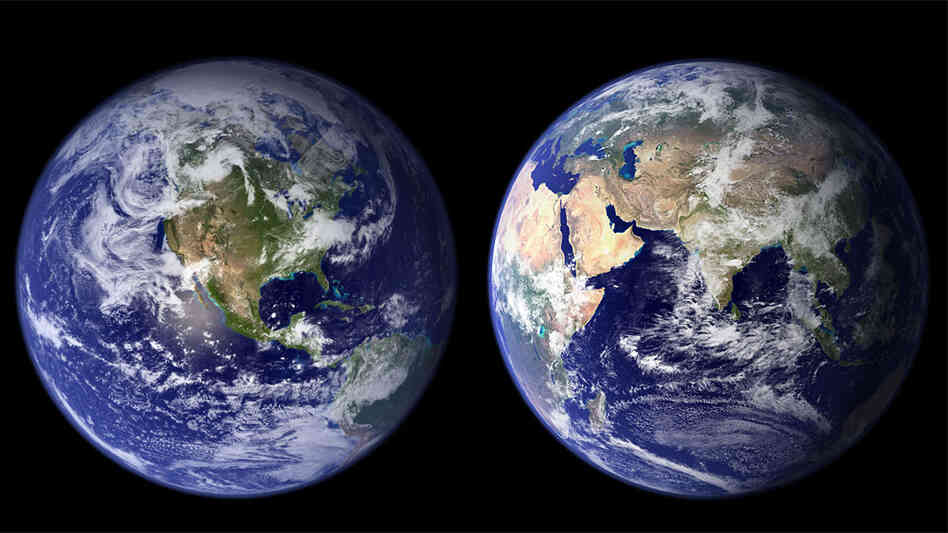 Photo composite of the Earth viewed from space.