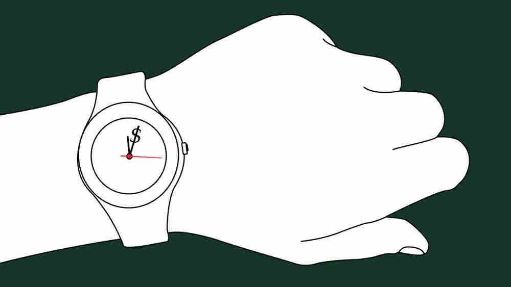 Cartoon wristwatch.