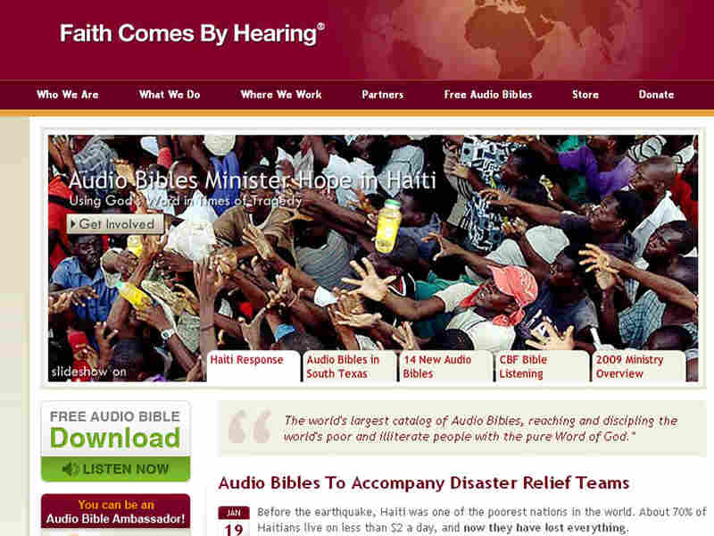 Faith Comes By Hearing sends audio Bibles to Haiti.