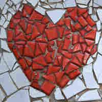 broken heart made of tile.