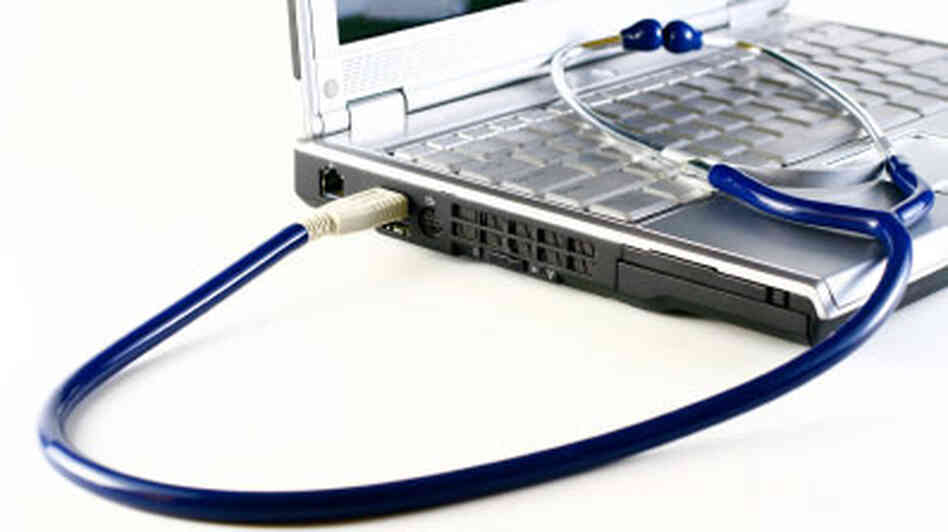 stethoscope laptop