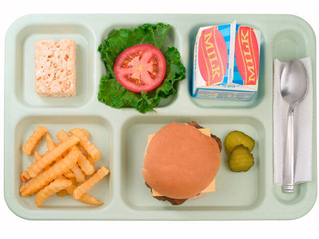School lunch tray.