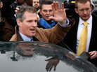 Massachusetts State Sen. Scott Brown waves to supporters after voting in special election to replace