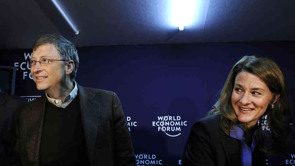 Bill and Melinda Gates in Davos, Switzerland, January 29, 2010.
