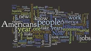 Wordle map of SOTU 2010