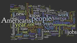 A Wordle map of President Obama's State of the Union Speech