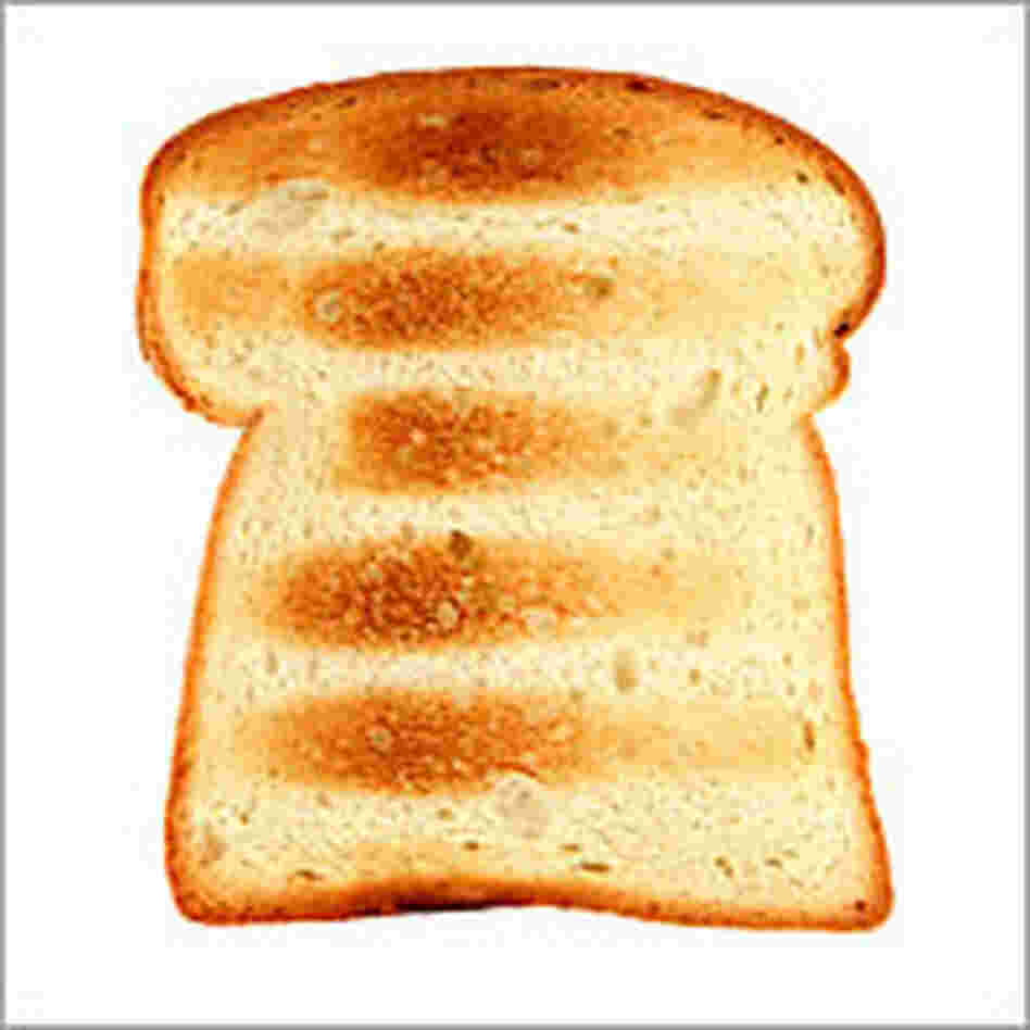 A slice of white toast