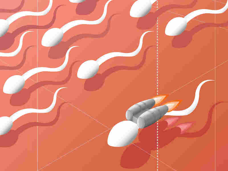 Sperm with a jetpack.