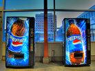 Pepsi vending machines.