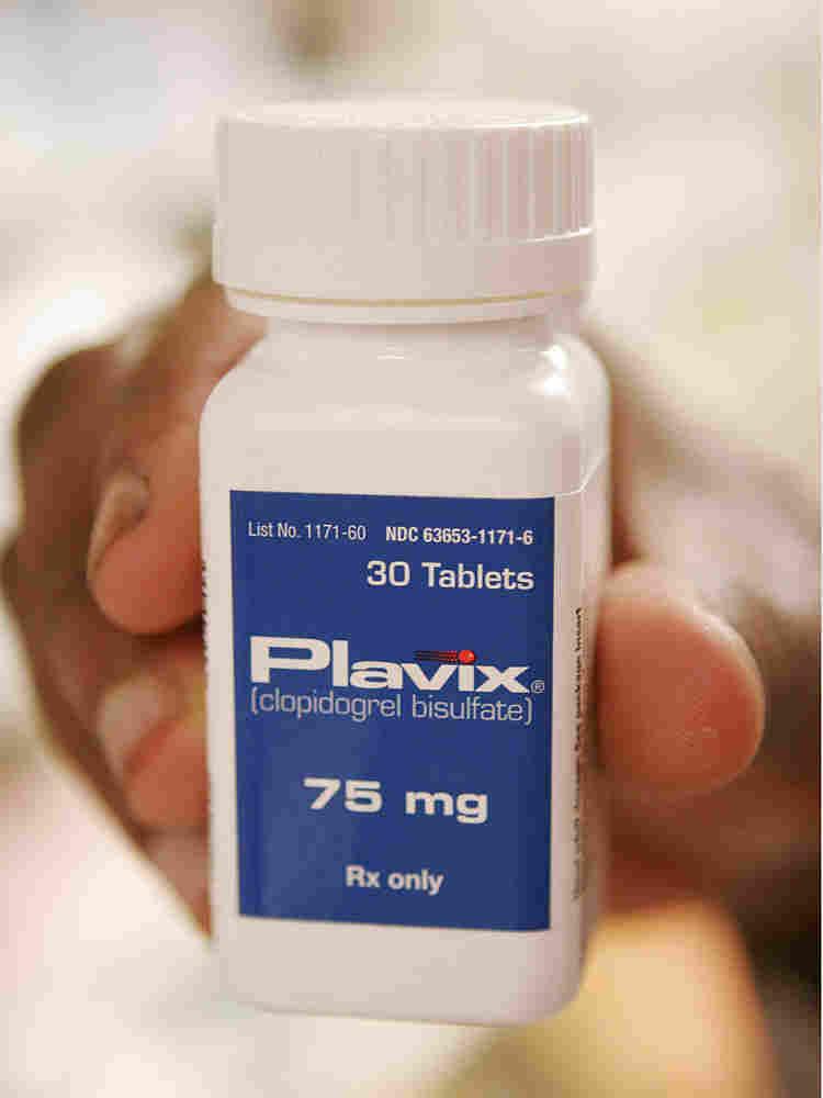 Plavix bottle.