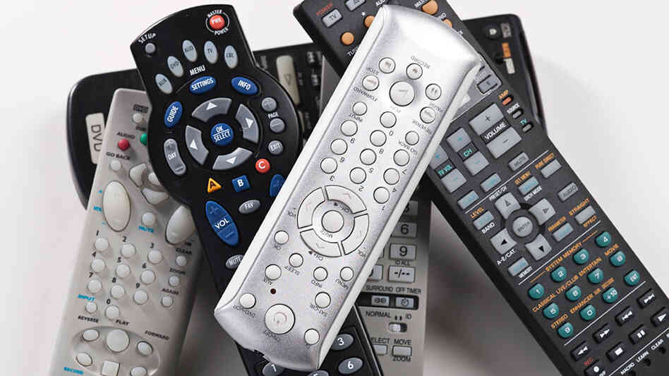 Pile of remote controls.
