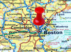 Map showing Boston, Massachusetts.