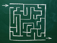 Mice with a genetic defect linked to schizophrenia had trouble navigating through a maze.