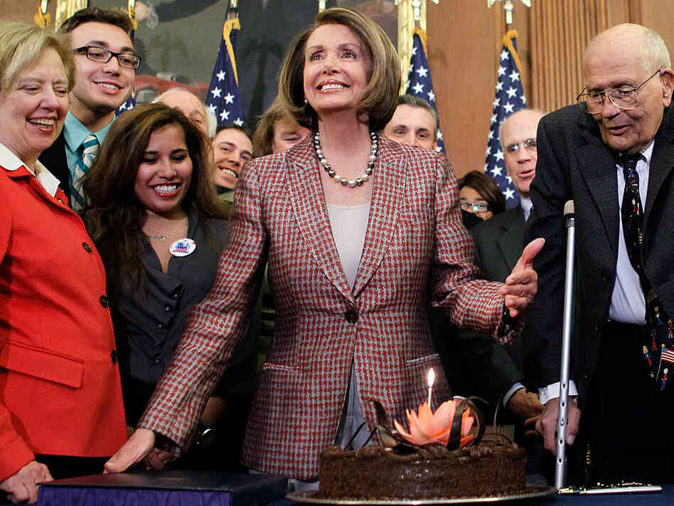 House Speaker Nancy Pelosi celebrates her birthday and the signing of the new health law with a big