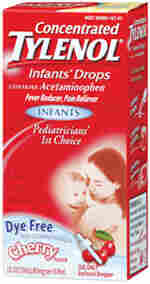 A box of Tylenol infants' drops