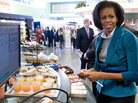 Michelle Obama at Philadelphia supermarket.