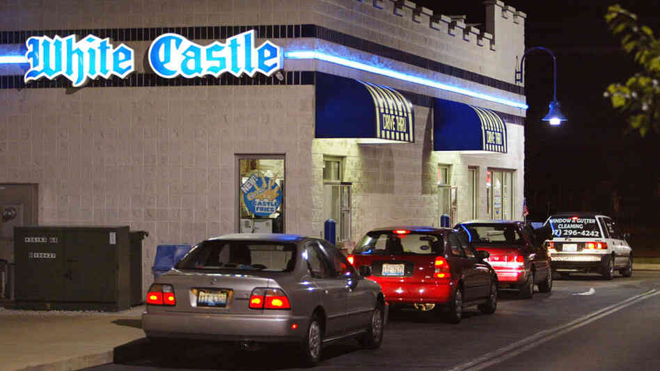 White Castle drive-thru line