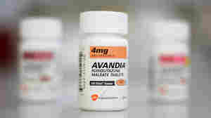 Bottles of Avandia diabetes medication.