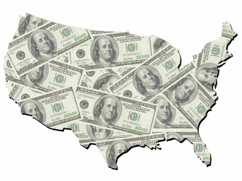 Money map of the U.S.