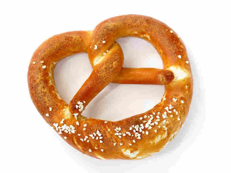 A salty pretzel
