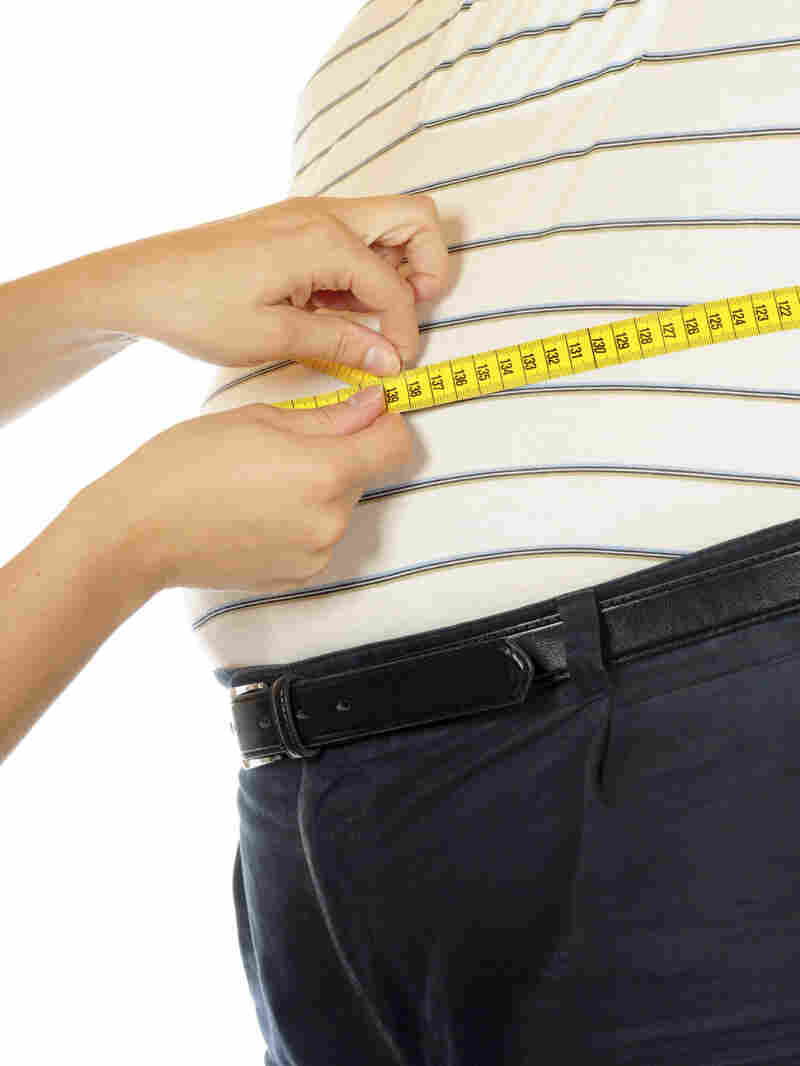 Tape measure at waist