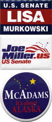 3 Alaska Senate buttons