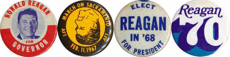 Reagan buttons, 1966-70