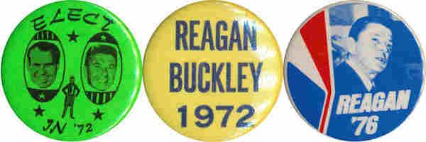 Reagan buttons, 1972-76