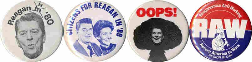 Reagan buttons, 1980-83