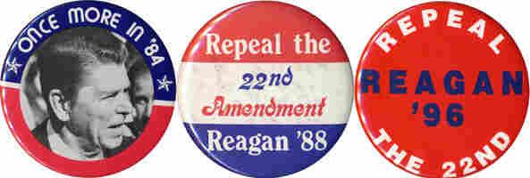 Reagan buttons: 1984-end