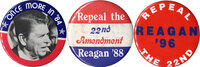 Reagan buttons: 1984-end
