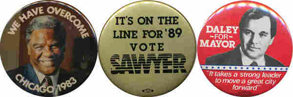 Washington, Sawyer, Daley buttons