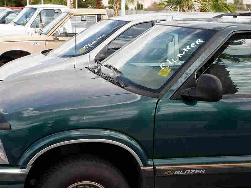 Clunkers await execution in Las Vegas, Nev.
