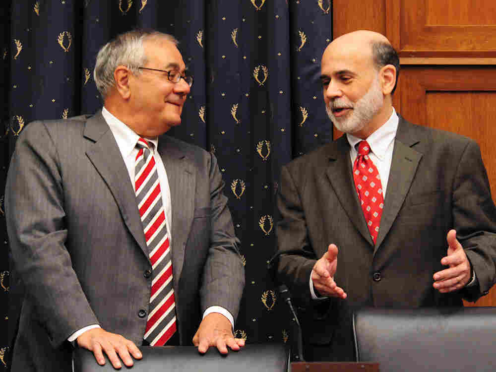 Rep. Barney Frank with Federal Reserve Chairman Ben Bernanke.