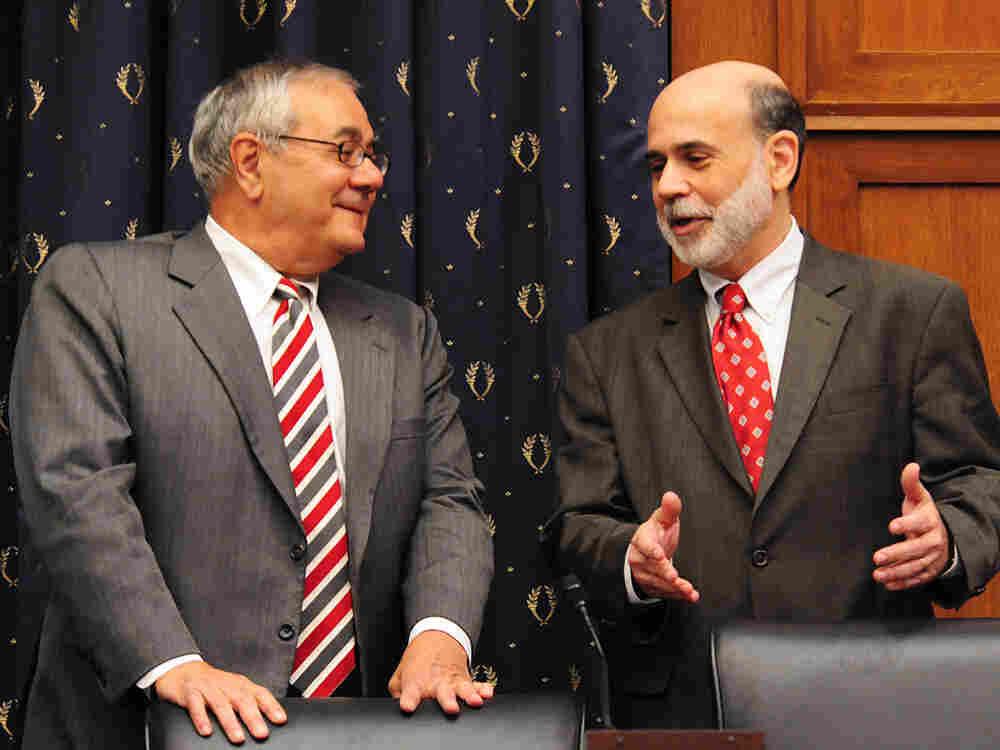Rep. Barney Frank with Federal Reserve Chairman Ben Bernanke.