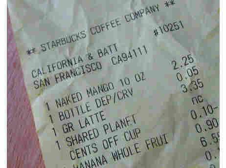 Starbucks Receipt.