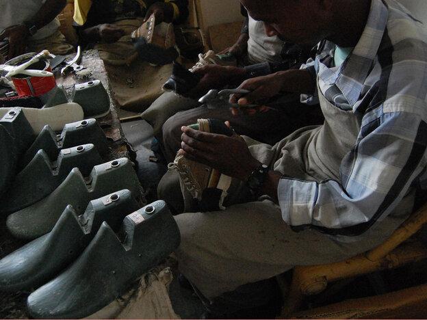 Shoe workshop in Ethopia
