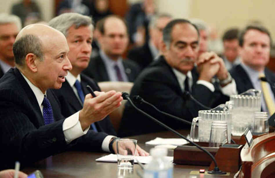 A Financial Crisis Inquiry Commission hearing on Capitol Hill