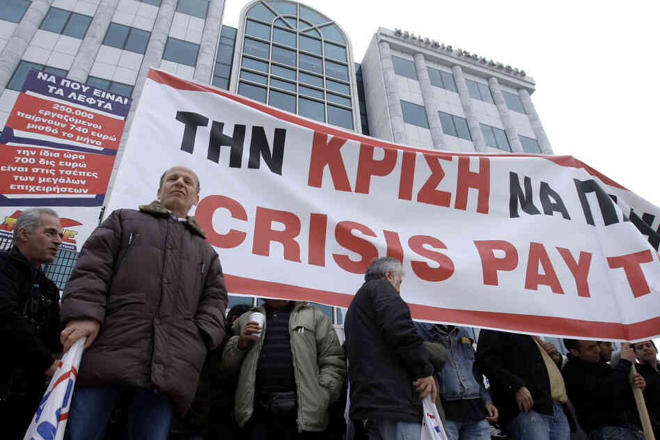 Labor group blockades Athens stock market