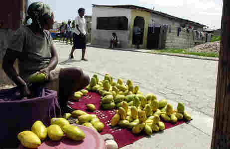 mangos for sale in Haiti